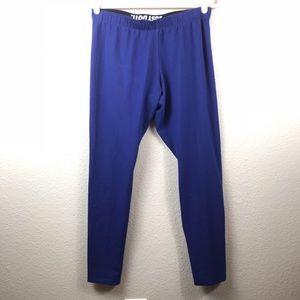 Nike blue running leggings size xl